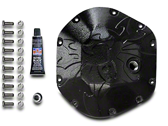 Poison Spyder Dana 44 Bombshell Differential Cover - Black (97-18 Wrangler TJ & JK)