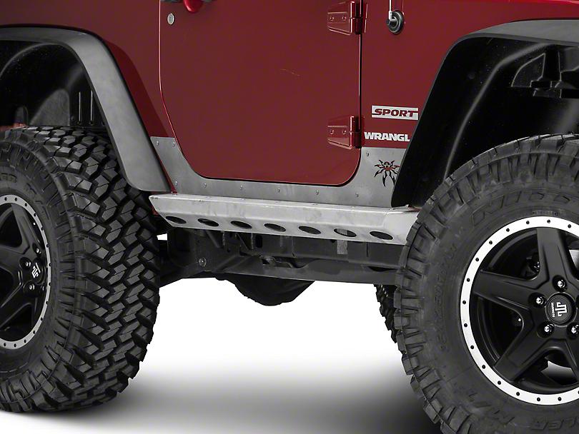 Poison Spyder Brawler Rockers - Bare Steel (07-18 Jeep Wrangler JK)