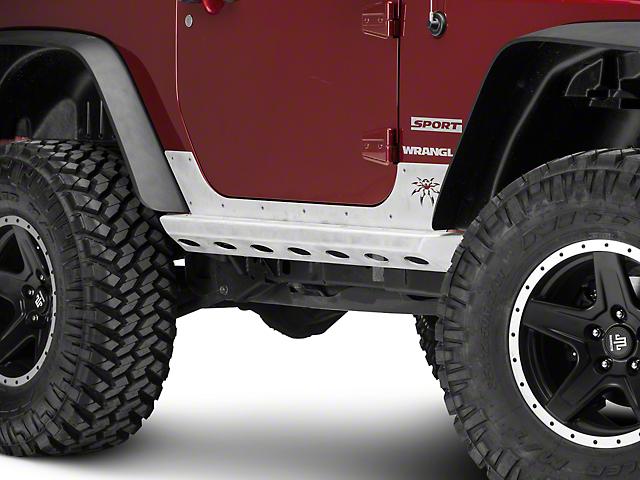 Poison Spyder Brawler Rockers - Bare Aluminum (07-18 Jeep Wrangler JK)
