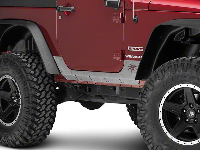 Poison Spyder Body Armor - Bare Steel (07-18 Jeep Wrangler JK)