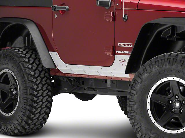 Poison Spyder Body Armor - Bare Aluminum (07-18 Jeep Wrangler JK)