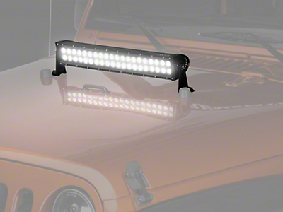Raxiom 20 in. Dual Row LED Light Bar - Flood/Spot Combo (87-19 Jeep Wrangler YJ, TJ, JK & JL)