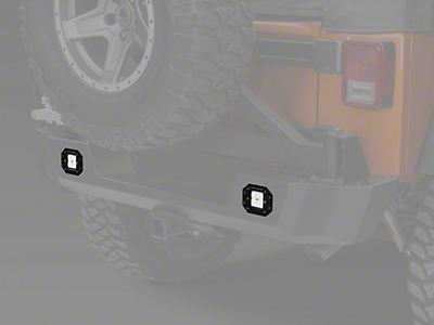 Raxiom 3 in. Flush Mount 6-LED Off Road Light - Flood Beam (87-17 Wrangler YJ, TJ & JK)