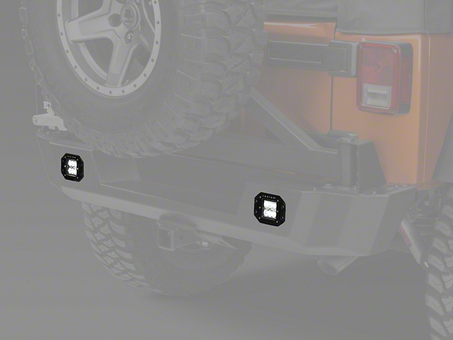 Raxiom 3 in. Flush Mount 6-LED Off Road Light - Spot Beam (87-18 Wrangler YJ, TJ, JK & JL)