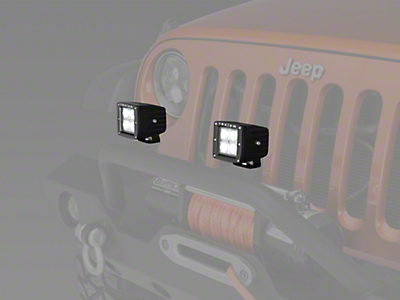 Raxiom 3 in. Square 4-LED Off Road Light - Flood Beam (87-18 Wrangler YJ, TJ, JK & JL)