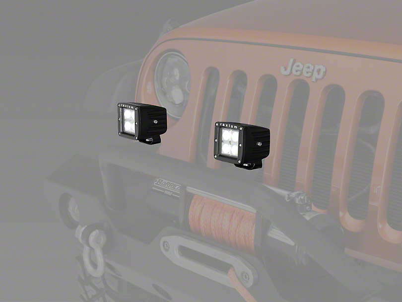 Raxiom 3 in. Square 4-LED Off Road Light - Spot Beam (87-19 Jeep Wrangler YJ, TJ, JK & JL)