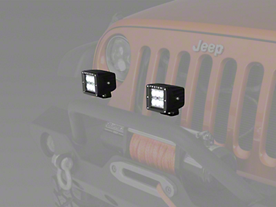 Raxiom 3 in. Square 6-LED Off Road Light - Flood Beam (87-18 Wrangler YJ, TJ, JK & JL)