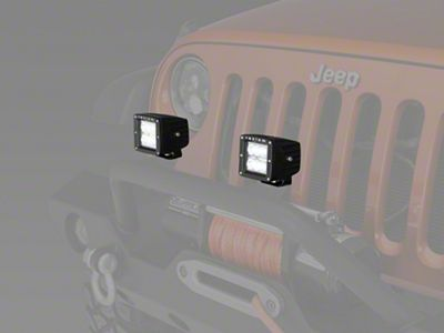 Raxiom 3 in. Square 6-LED Off Road Light - Spot Beam (87-19 Jeep Wrangler YJ, TJ, JK & JL)