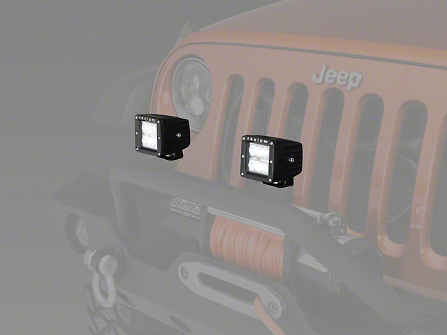 Raxiom 3 in. Square 6-LED Off Road Light - Spot Beam