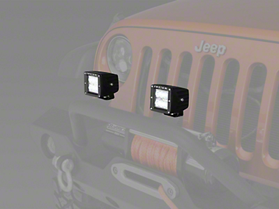Raxiom 3 in. Square 6-LED Off Road Light - Spot Beam (87-18 Wrangler YJ, TJ, JK & JL)