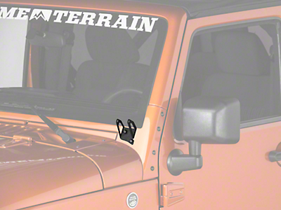 Raxiom Windshield Mounted Light Brackets (07-18 Wrangler JK)