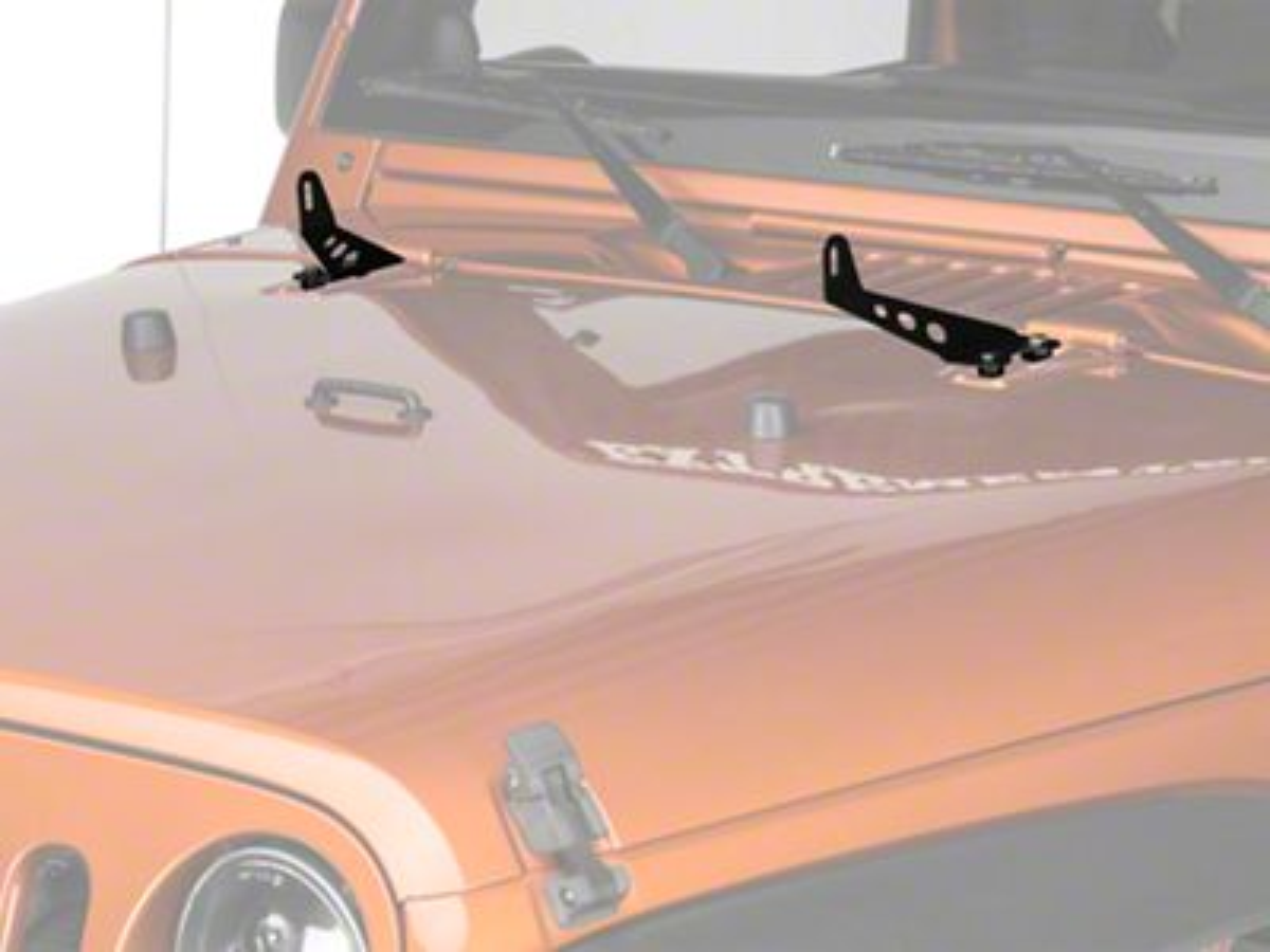 Add Raxiom 24 in. Light Bar Hood Mounting Brackets (07-17 Wrangler JK)