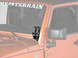 Raxiom Windshield Mounted Dual Light Brackets (07-18 Jeep Wrangler JK)