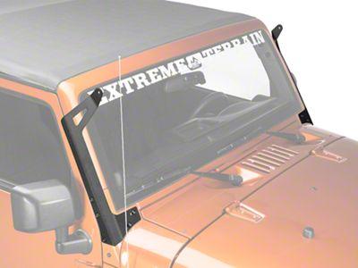 Add Raxiom 50 in. LED Light Bar Windshield Mount (07-17 Wrangler JK)