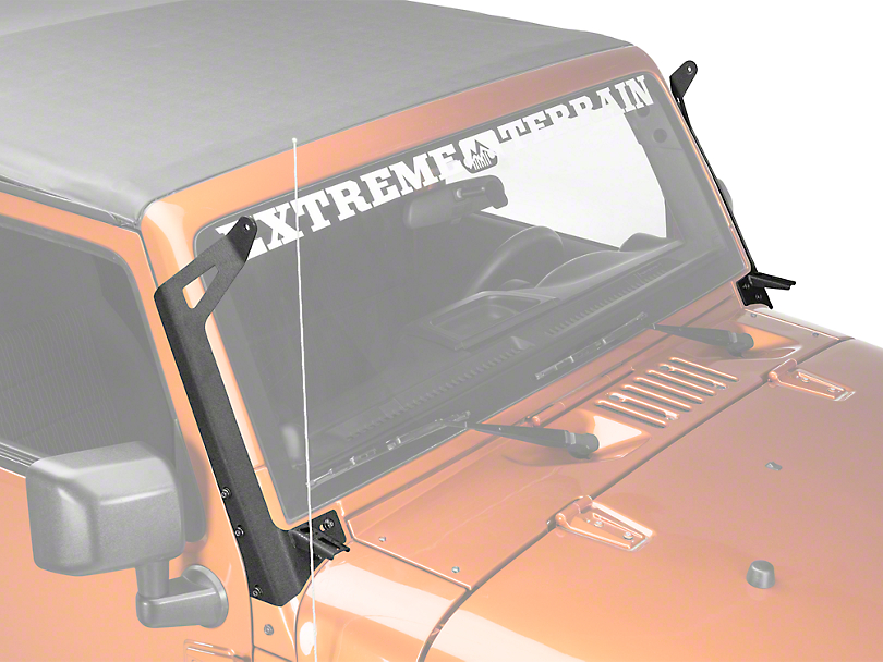 Raxiom 50 in. LED Light Bar Windshield Mount w/ Auxilliary Bracket (07-18 Wrangler JK)