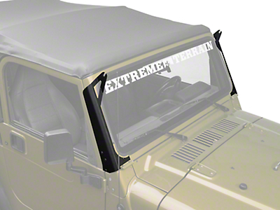 Raxiom 50 in. LED Light Bar Windshield Mount (97-06 Jeep Wrangler TJ)