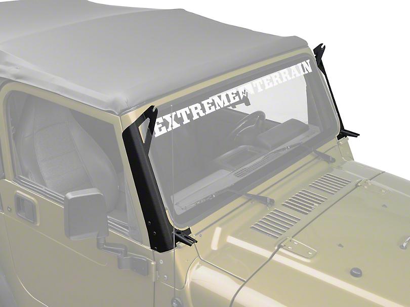 Raxiom 50 in. LED Light Bar Windshield Mount w/ Auxilliary Bracket (97-06 Wrangler TJ)