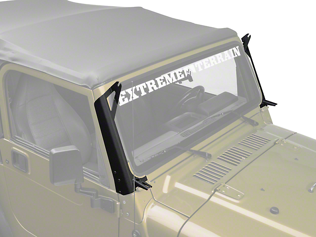 Raxiom 50-Inch LED Light Bar Windshield Mount with Auxilliary Bracket (97-06 Jeep Wrangler TJ)
