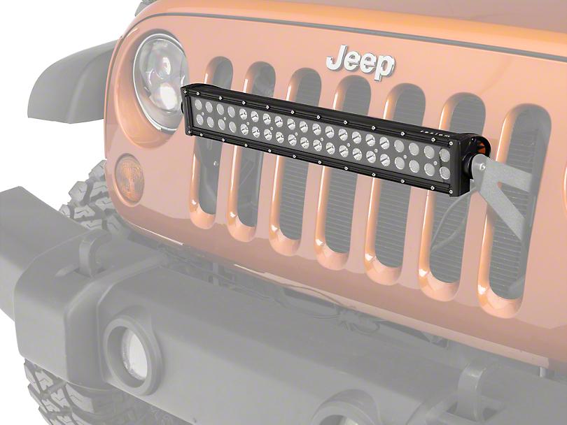 Raxiom Grille Mounted 20 in. LED Light Bar (07-18 Jeep Wrangler JK; 2018 Jeep Wrangler JL)