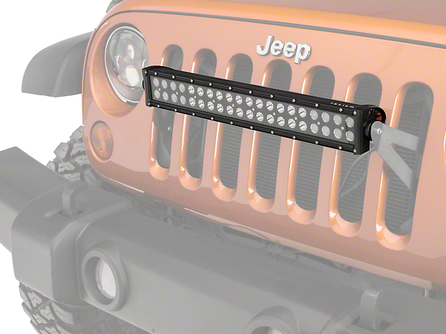 Raxiom Grille Mounted 20 in. LED Light Bar (07-18 Wrangler JK; 2018 Wrangler JL)