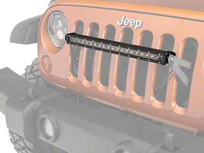 Raxiom Grille Mounted 20 in. LED Slim Light Bar (07-18 Wrangler JK; 2018 Wrangler JL)