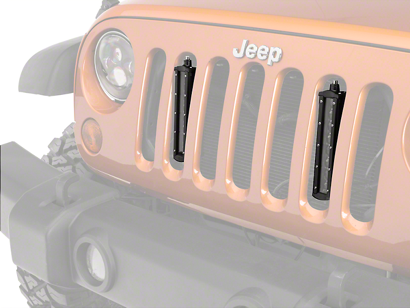 Raxiom Flush Mount Dual LED Grille Lights (07-18 Wrangler JK; 2018 Wrangler JL)