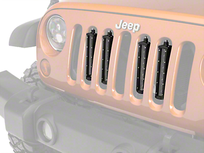 Raxiom Flush Mount Quad LED Grille Lights (07-18 Jeep Wrangler JK; 2018 Jeep Wrangler JL)