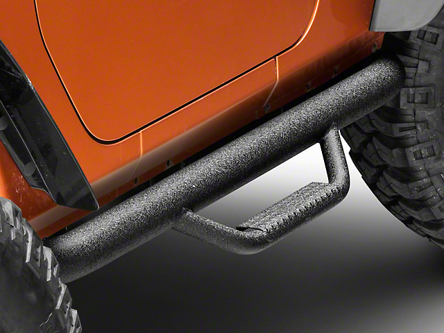 N-Fab Nerf Steps - Textured Black (07-18 Jeep Wrangler JK 2 Door)