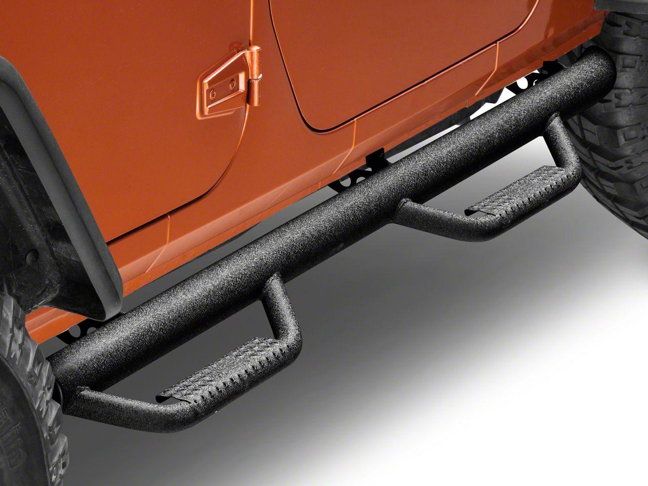 Smittybilt Jeep Wrangler Nerf Side Step Bars Textured
