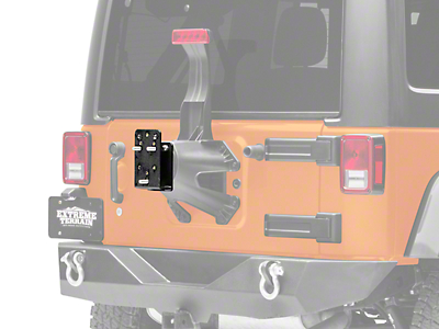Smittybilt Tire Relocation Bracket - Clear Up to 35 in. Tire (87-18 Wrangler YJ, TJ & JK)