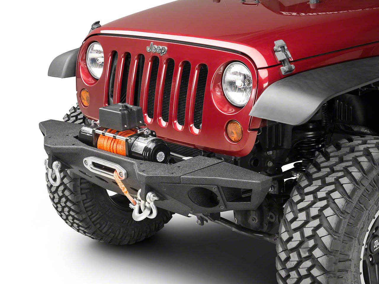 Smittybilt XRC M.O.D. Crawler End Caps - Textured Matte Black (07-18 Jeep Wrangler JK; 2018 Jeep Wrangler JL)