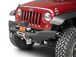 Smittybilt XRC M.O.D. Mid Width End Plates - Textured Matte Black (07-18 Jeep Wrangler JK)