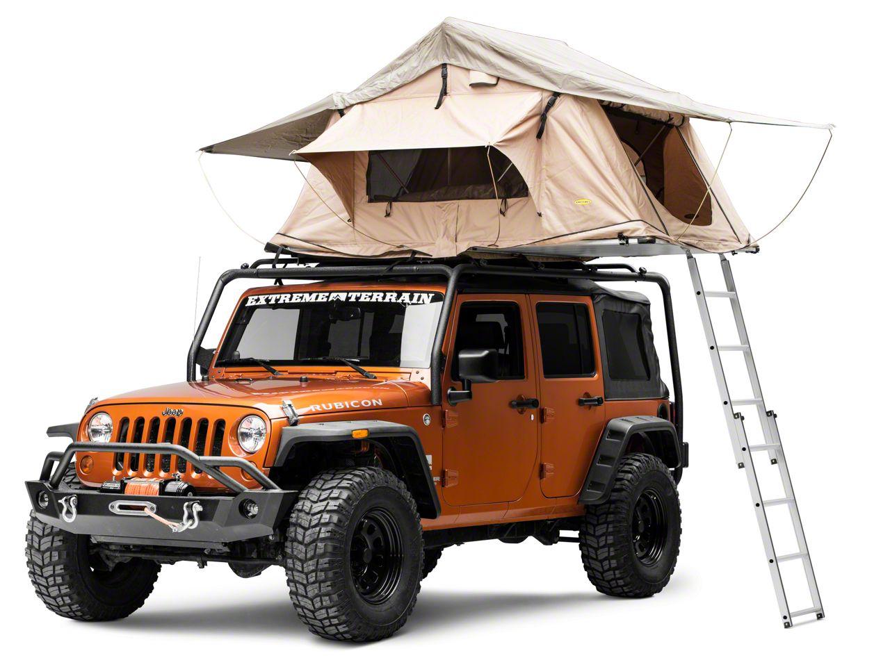 Smittybilt Jeep Wrangler Overlander Roof Top Tent Coyote Tan 2783 Universal Fitment