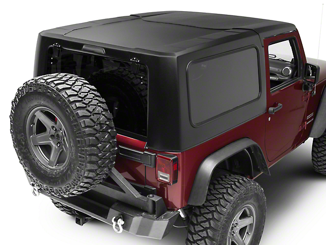 smittybilt jeep wrangler 2 piece hard top textured black 517701 07 18 jeep wrangler jk 2 door. Black Bedroom Furniture Sets. Home Design Ideas