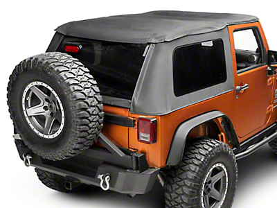 Smittybilt Bowless Combo Soft Top w/ Tinted Windows (07-18 Jeep Wrangler JK 2 Door)