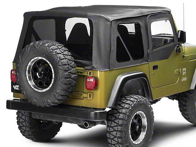 smittybilt jeep wrangler premium replacement soft top w tinted windows 9974235 97 06 jeep. Black Bedroom Furniture Sets. Home Design Ideas