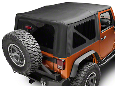 Smittybilt Premium Replacement Soft Top w/ Tinted Windows (07-18 Jeep Wrangler JK 2 Door)