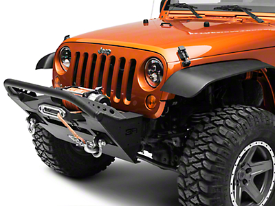 Body Armor 4x4 PRO-Series Front Stubby Winch Bumper w/ Winch Plate & Shorty Stinger (07-18 Jeep Wrangler JK)