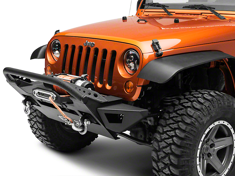 Body Armor 4x4 PRO-Series Bumper Wings w/ Dual LED Cube Light Pockets (07-18 Wrangler JK)