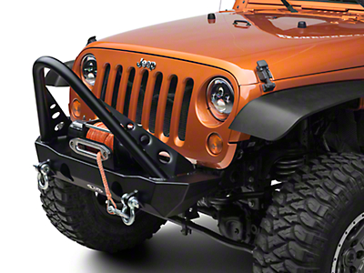 LoD Offroad Destroyer Shorty Front Bumper w/ Stinger (07-18 Wrangler JK)