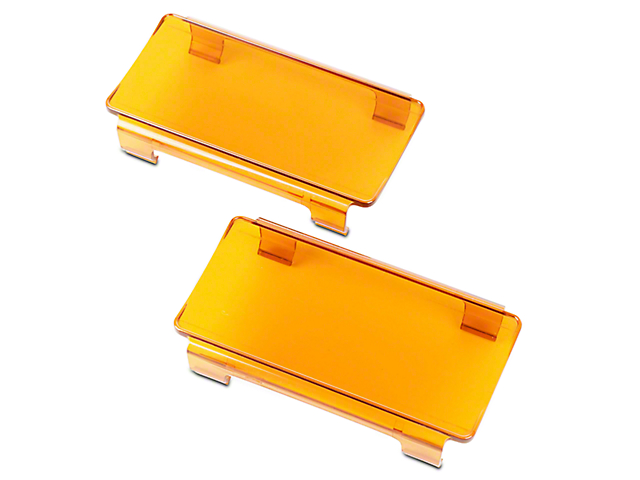 Rugged Ridge 6 in. LED Amber Light Covers - Pair (07-19 Jeep Wrangler JK & JL)