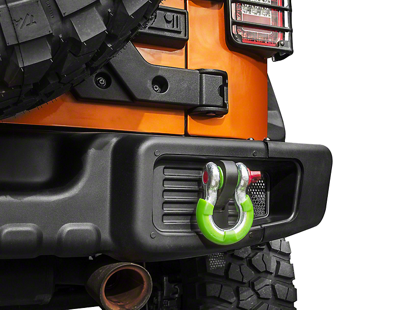 Rugged Ridge 7/8-Inch D-Ring Shackle Isolators; Green; Set of Four