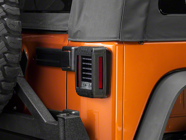 DV8 Off-Road LED Horizontal Tail Lights (07-18 Jeep Wrangler JK)