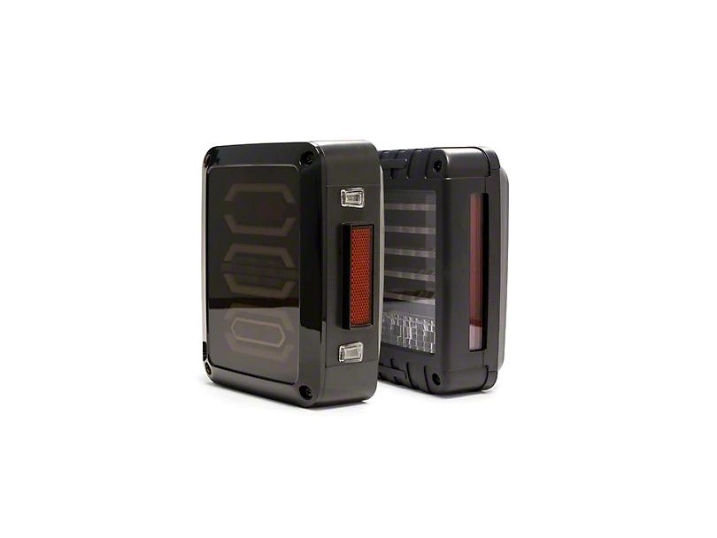 DV8 Off-Road LED Octagon Tail Lights (07-18 Wrangler JK)