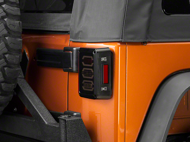 DV8 Off-Road LED Octagon Tail Lights (07-18 Jeep Wrangler JK)