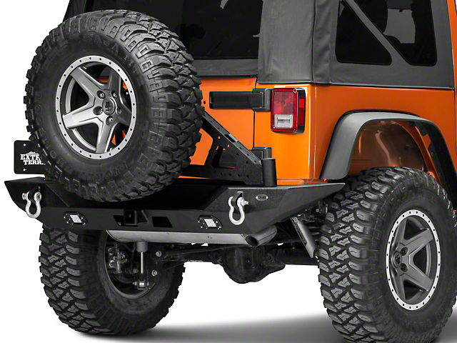 DV8 Offroad TC-6 Easy Open Tire Carrier for RS-10 and RS-11 Bumpers (07-18 Jeep Wrangler JK)