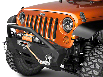 DV8 Off-Road FS-16 Hammer Forged Front Bumper (07-18 Jeep Wrangler JK)