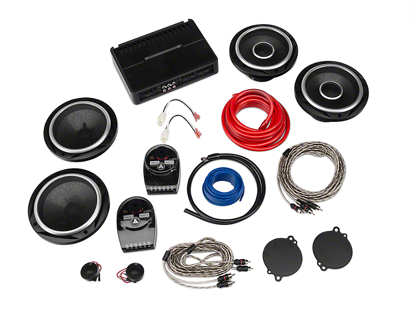 JL Audio Front and Rear Factory Speaker Upgrade Kit with Amplifier (07-18 Jeep Wrangler JK)