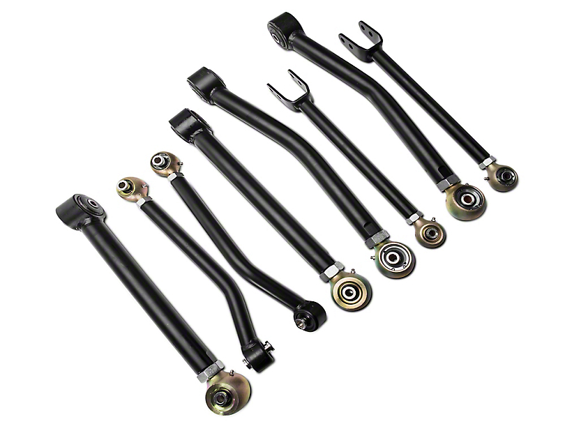 RLT Adjustable Front & Rear Short Control Arms for 3+ in. Lift (07-18 Jeep Wrangler JK)