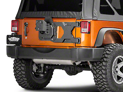 Barricade HD Tire Carrier w/ Mount (07-18 Wrangler JK; 2018 Wrangler JL)